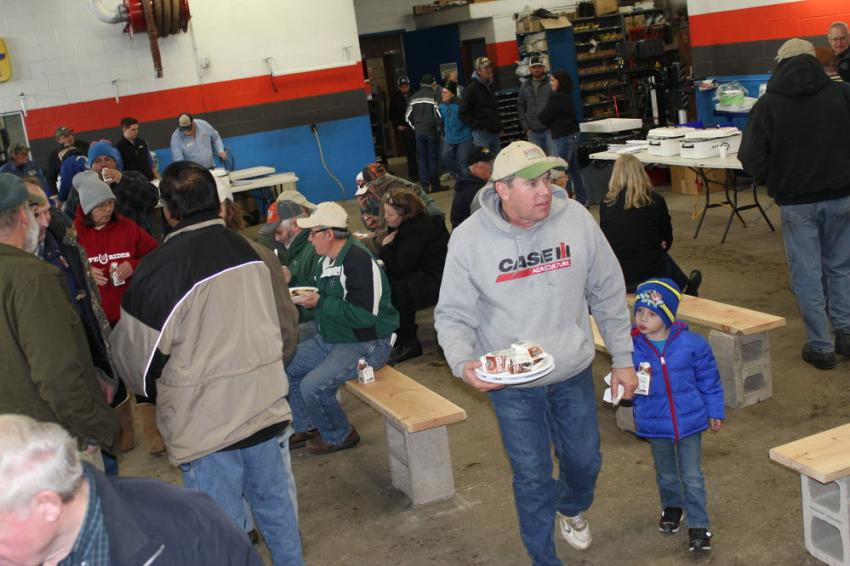 The annual Pork Chop Lunch and Open House was a family-friendly event.