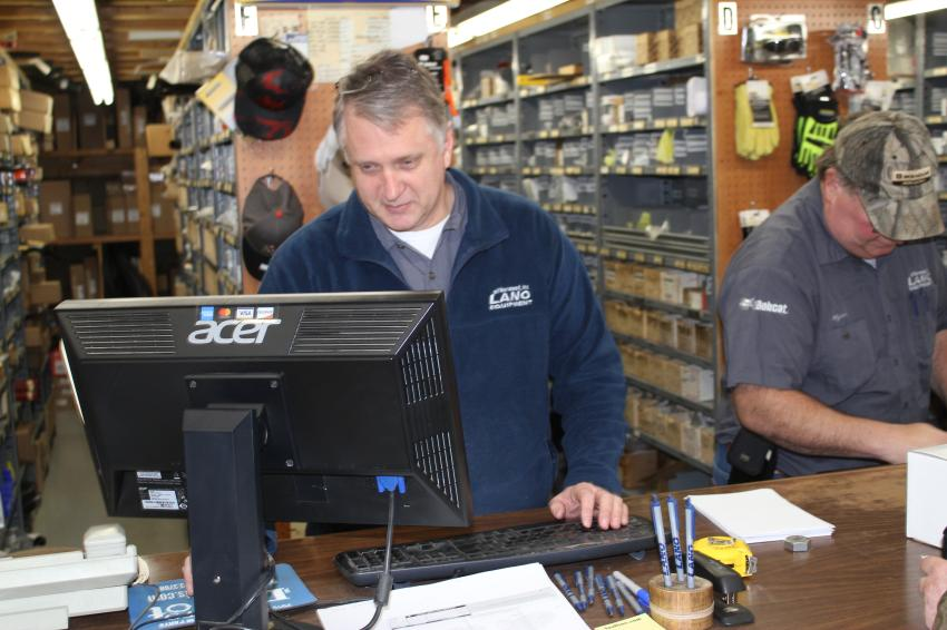 Andy Lano, parts manager at Lano Equipment, handled the 10 percent parts special that ran during their open house.