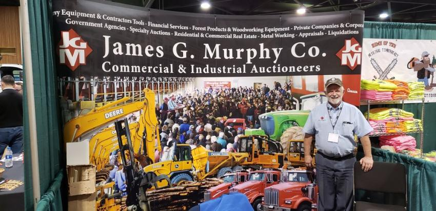 Andy Taylor, industry icon, of James G. Murphy is happy to be at the Oregon Logging Conference. James G. Murphy is a forestry and logging auction expert with years of experience in the industry.