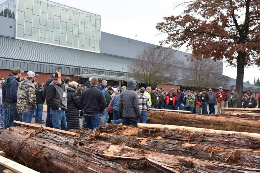 Many hands-on seminars were well-attended at the Oregon Logging Conference. (Mary Bullwinkel photo)