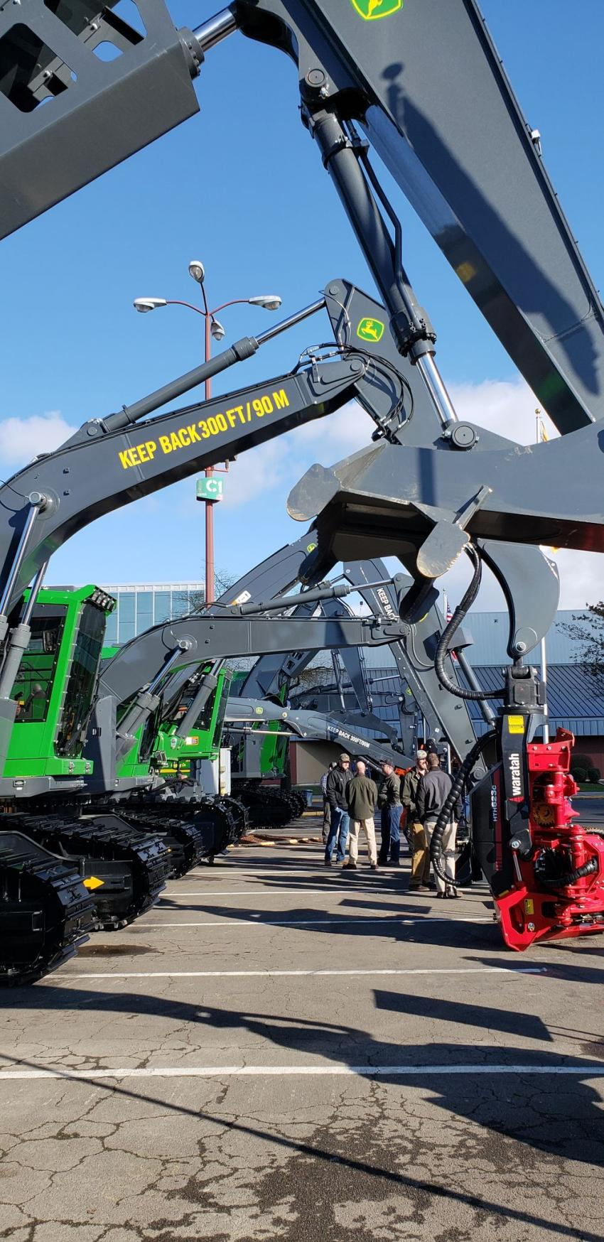 Pape Machinery brought its John Deere forestry equipment lineup to the show.