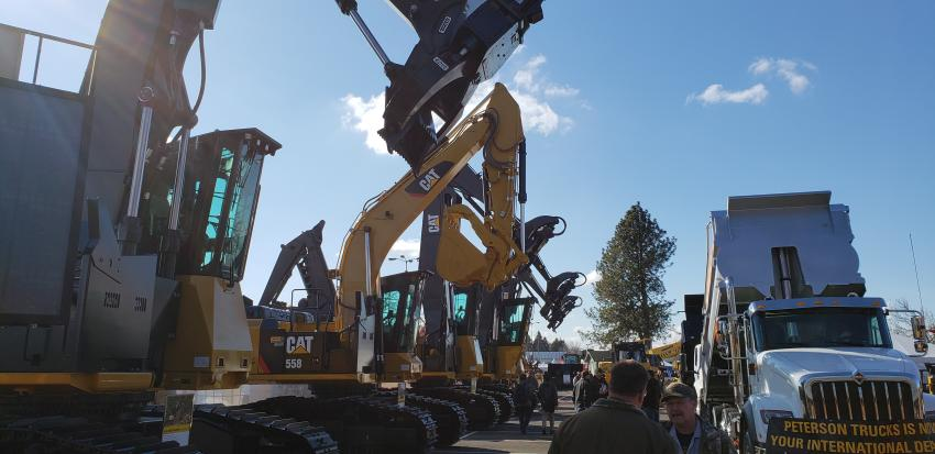 Caterpillar was well-represented at the Oregon Logging Conference.