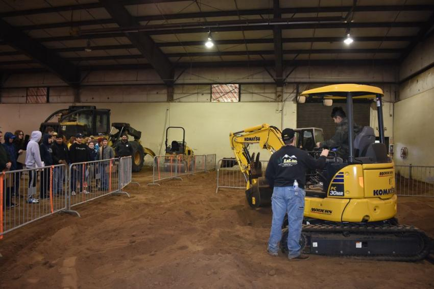 Students gain hands-on insight to the forestry industry during the second annual Future Forestry Workers Career Day during OLC. (Mary Bullwinkel photo)