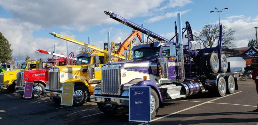 Artworks by Mackie of Portland, Ore., offers custom truck and equipment paint with highlights as featured on these Budco Custom Trucks. Budco Custom Body & Paint is a full-service auto, heavy truck and recreation body repair and paint shop in La Grande, Ore.
