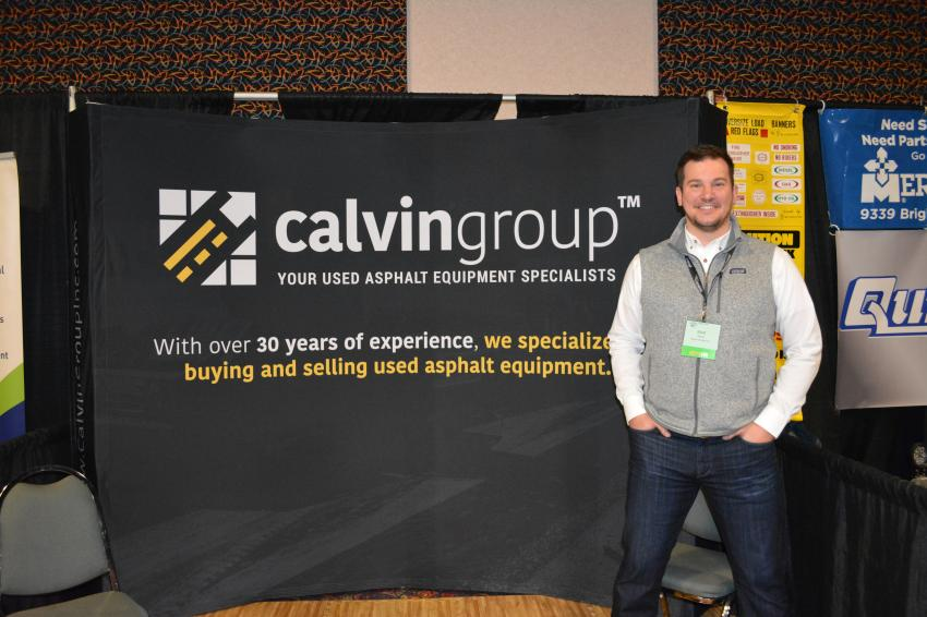 Matt Pentz of The Calvin Group was on hand to help contractors and municipalities with their used paving equipment needs.