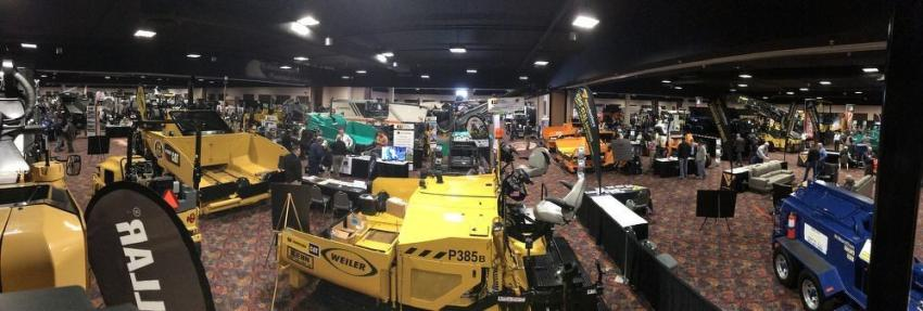 Paving equipment from all over Colorado and the Rocky Mountain region was on display at the Crown Plaza Denver International Airport for the 2019 edition of the Rocky Mountain Asphalt Conference and Equipment Show.