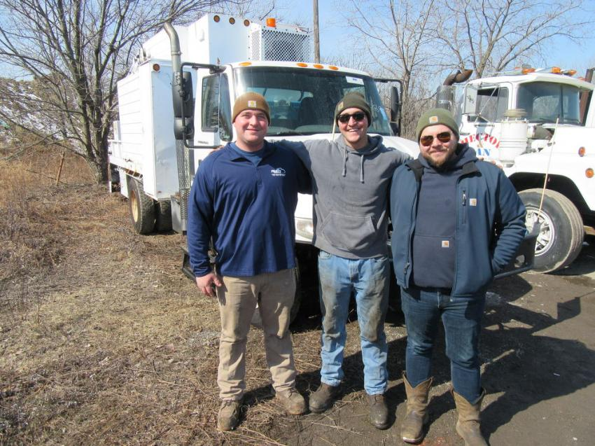 (L-R): Brothers Joe, Andrew and Anthony Frato of Frato Products were pleased with their purchase of an International Truck welding rig at the auction.