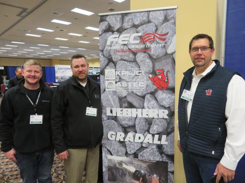 (L-R): Kyle Lucas, Stephen Buskey and Jason Zeibert of Finkbiner Equipment Co.