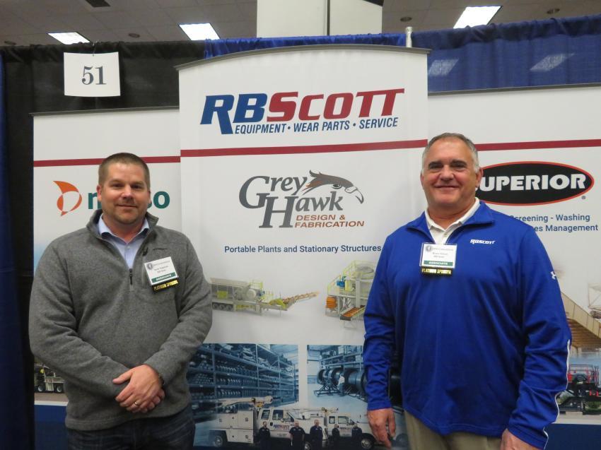 Scott Napiecek (L) and Bruce Troxel of R.B. Scott.