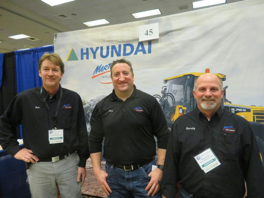 Staffing the Martin Implement booth at the expo (L-R) are Bob Keel, Dave Wawrzyniec and Randy Dolister.