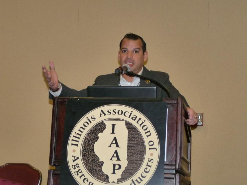 IAAP President Aaron Ozinga delivers his opening remarks at the convention.
