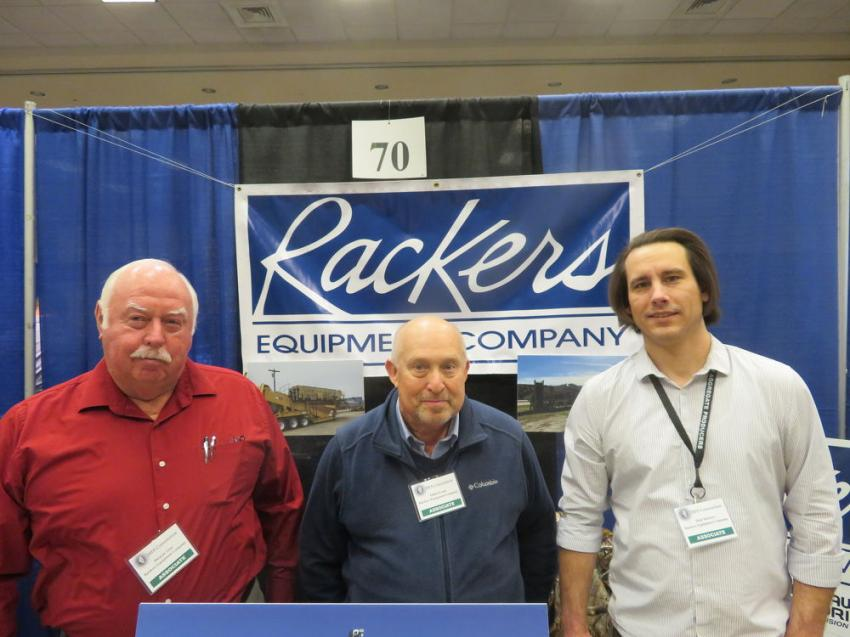 (L-R): Dwayne Goss, Eldon Evans and Matt Rackers of Rackers Equipment Co.