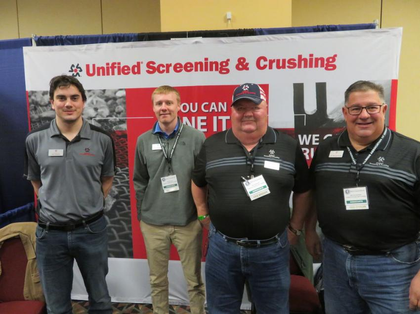 (L-R): Jack Kleason, Tyler Moretto, Rod Skindrud and Jim Georgantones of Unified Screening and Crushing.