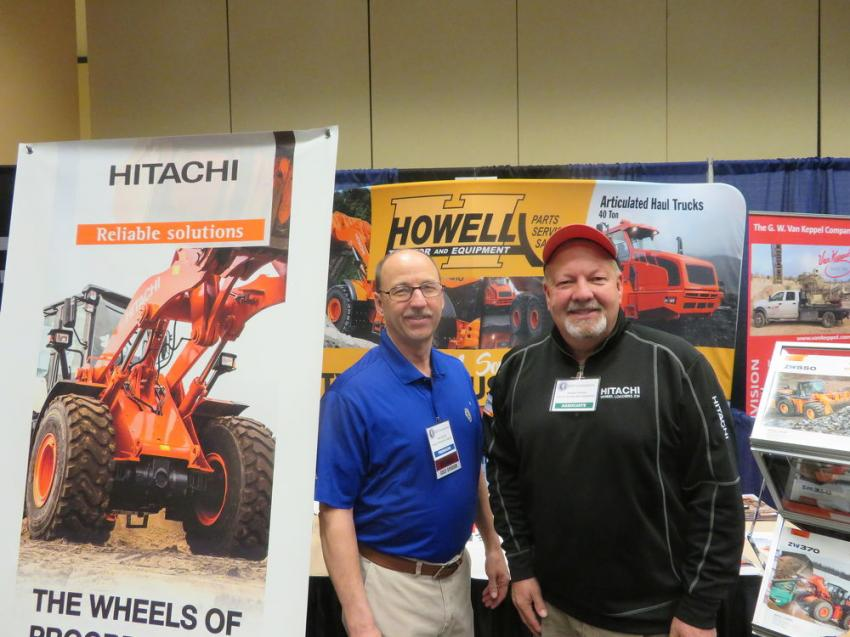 Mike Boyda (L) of Vulcan Materials Co. and Mike Morton of Howell Tractor & Equipment Co.