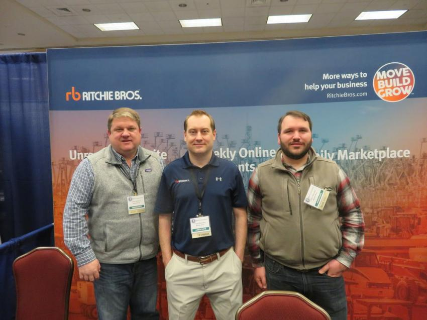 (L-R): Kent Kleiman, Scott Rozwalka and John Wilmesher of Ritchie Bros. Auctioneers.