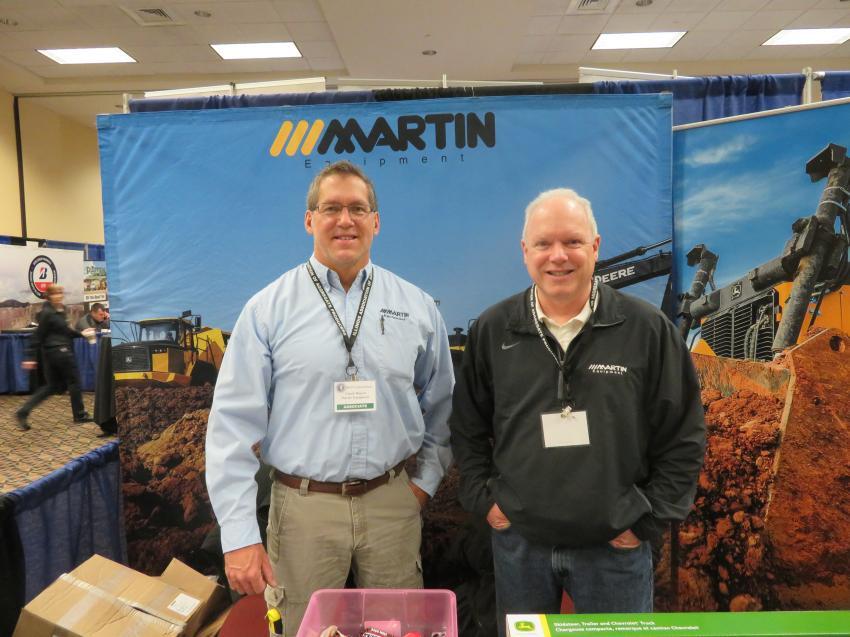 Chuck Rupert (L) and Joe Dalton of Martin Equipment Co.
