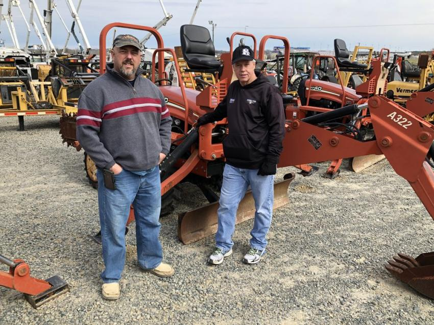 Scott Wright (L) and Bobby Call of B.M. Wright Well Drilling & Pump Service in Kannapolis, N.C., hunt for bargains.