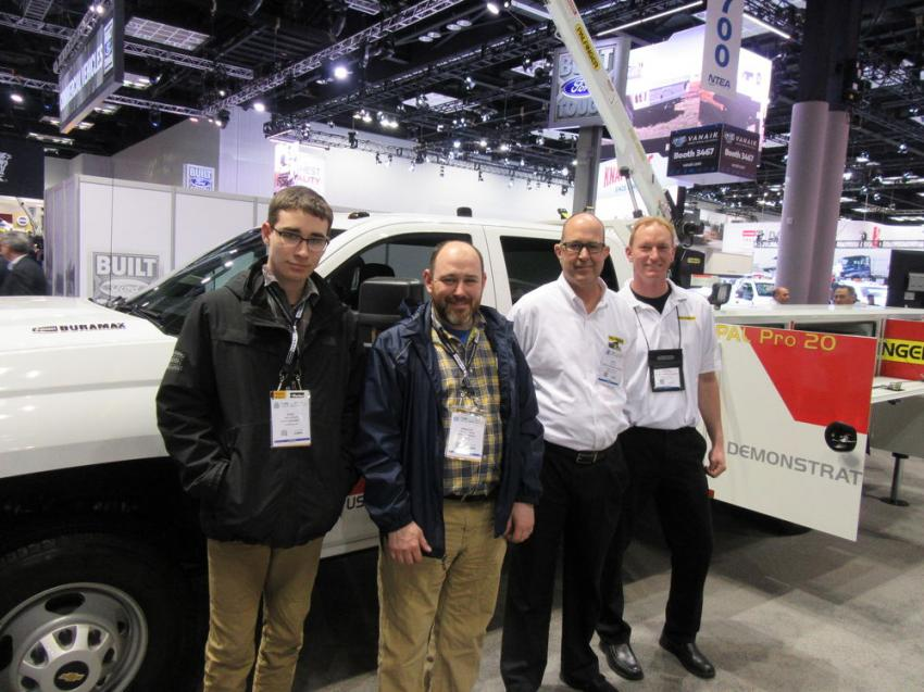 Father and son, Austin and Bradley Kinser of Rudd Equipment Company spoke with Omaha Standard Palfinger's Keith Ball and Jason Mayberry about Rudd's service fleet, which includes 10 Palfinger service vehicles.