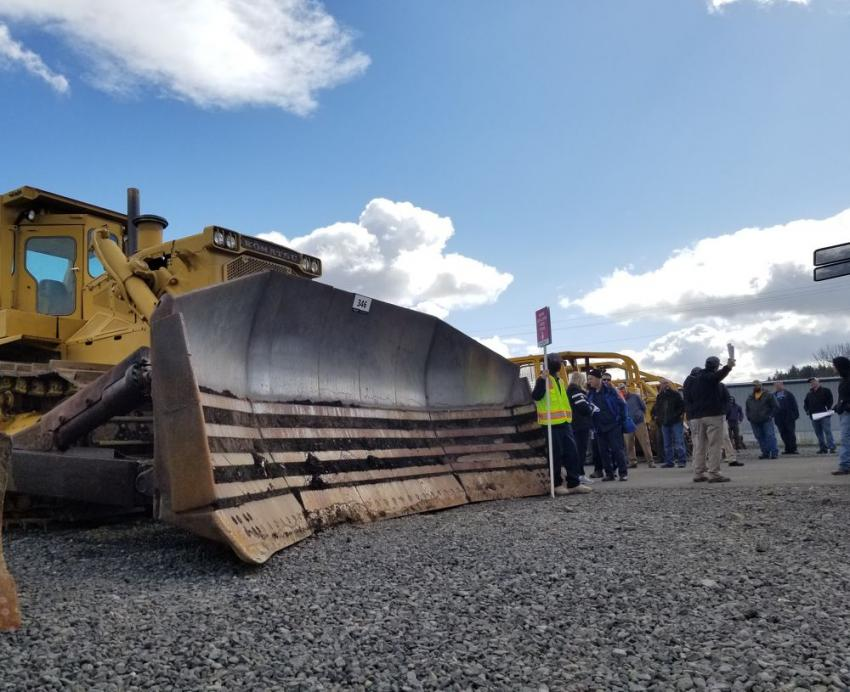 By far the most impressively sized piece, a Komatsu D455 crawler dozer sold to a buyer from California.
