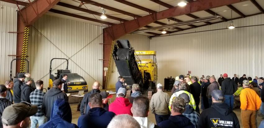 Approximately 250 contractors and municipal maintenance personnel from Western Pennsylvania came to see the equipment on display, catch up with Stephenson Equipment employees and enjoy a barbecue lunch and door prizes.