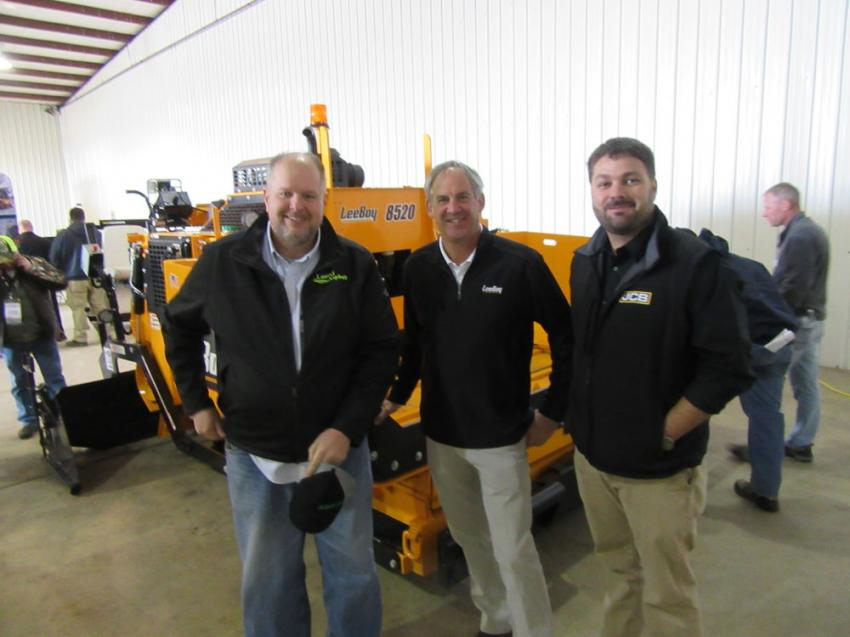 (L-R): Stephenson customer and LeeBoy Owner John Rugg of Laurel Asphalt spoke with LeeBoy Territory Manager James Harkins and Stephenson Equipment's Wes Hyde at the expo.