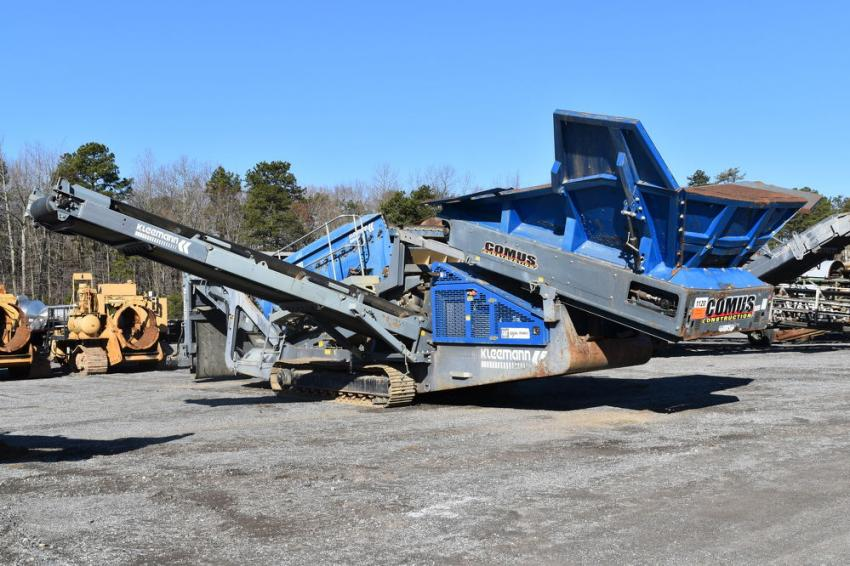 Bidders had a wide variety of equipment to bid on, including Kleemann crushers.