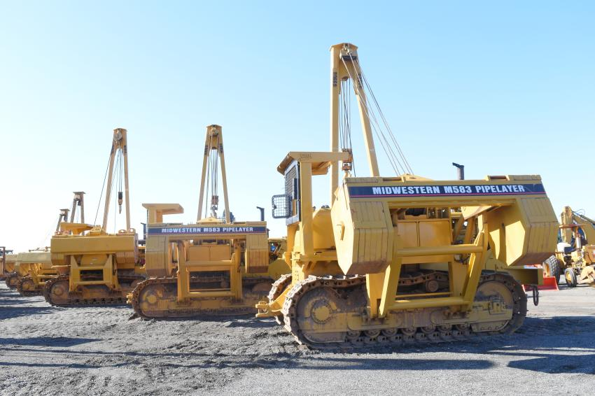 Pipelayers found new owners during the Ritchie auction.