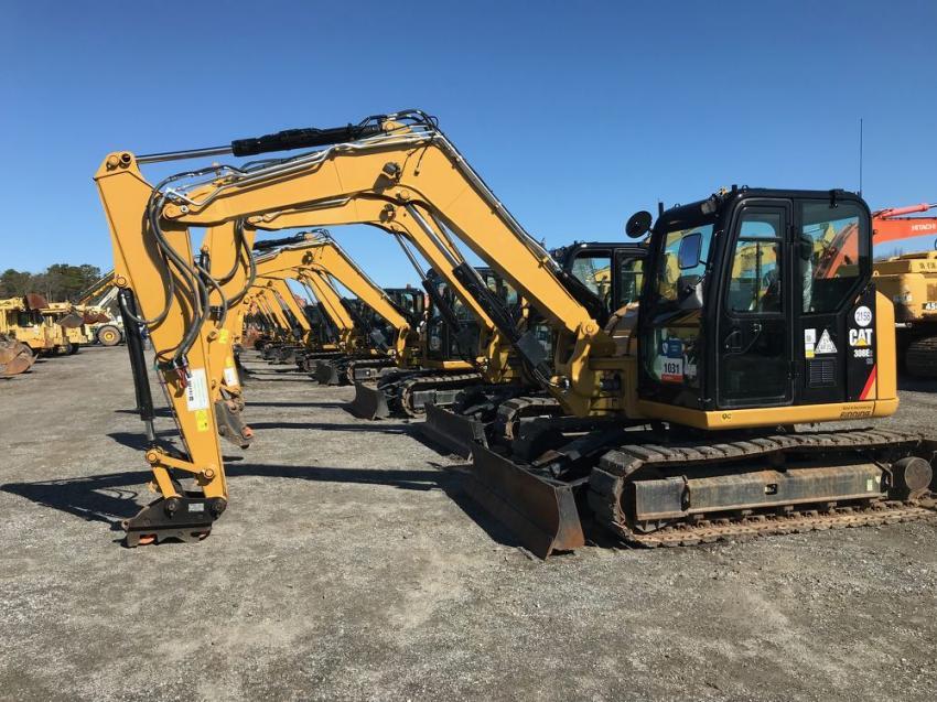 The recent Ritchie Bros. auction, held at its North East, Md., facility, had approximately 3,400 lots for sale, including these Cat 308E excavators.