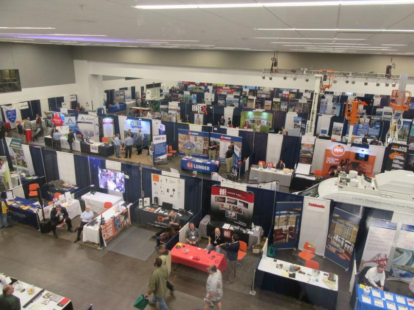 The Civic Center's Grand Hall featured aisle after aisle of exhibitors presenting their equipment, products and services with tabletop displays.