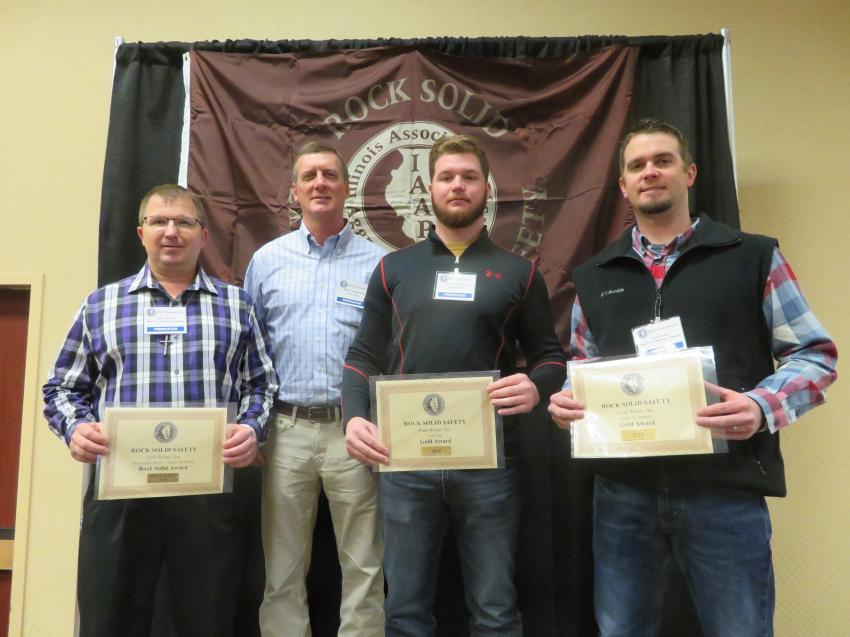 Rock Solid Excellence in Safety Award and Gold Award — Fred Weber Inc.