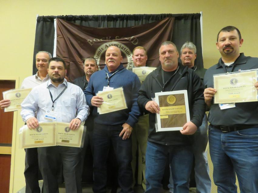 Rock Solid Excellence in Safety Award and Gold Award — Hanson Material Service
