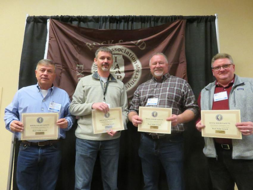 Rock Solid Excellence in Safety Award — Shakespeare Aggregates