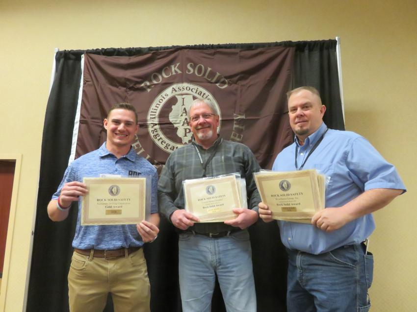Gold Award — Raimonde Drilling Corp.; Rock Solid Excellence in Safety Award and Gold Award — Central Stone Co.; Rock Solid Excellence in Safety Award — RiverStone Group