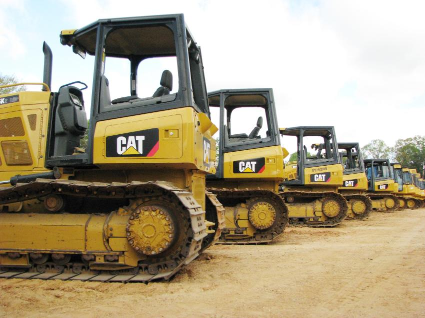 Quality midsized Cat dozers were a big draw for the crawler tractors available in the sale.