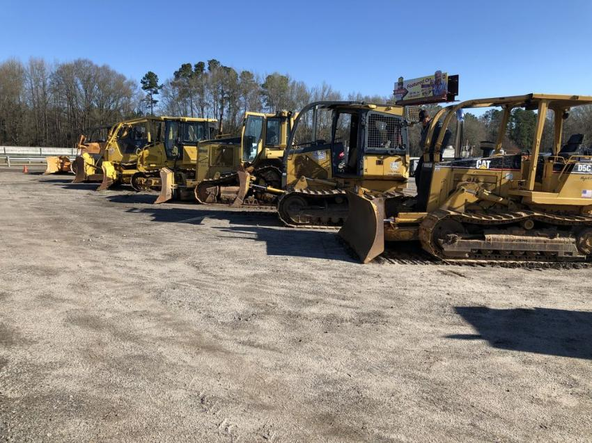 The auction included a good selection of John Deere, Cat and Komatsu dozers.