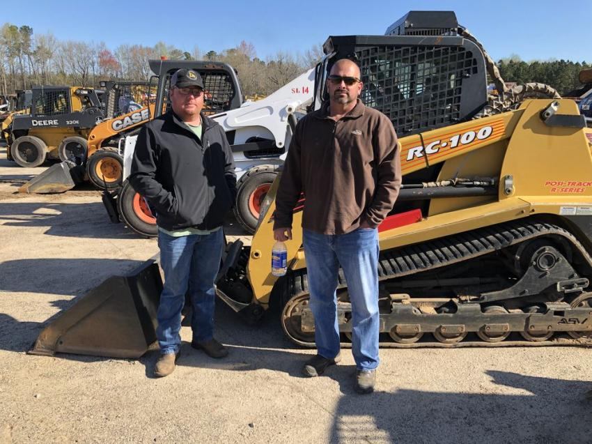 Tripp Brooks (L) of Brooks Land Clearing & Grading in Stapleton, Ga., and Steve Huff of Huff Underbrush Mulching & Tree Service needed a few compact track loaders and an excavator.