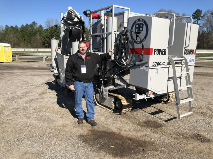 Teddy Cobb of Cobb Curb & Gutter was interested in a Power Curbers 5700-C machine.