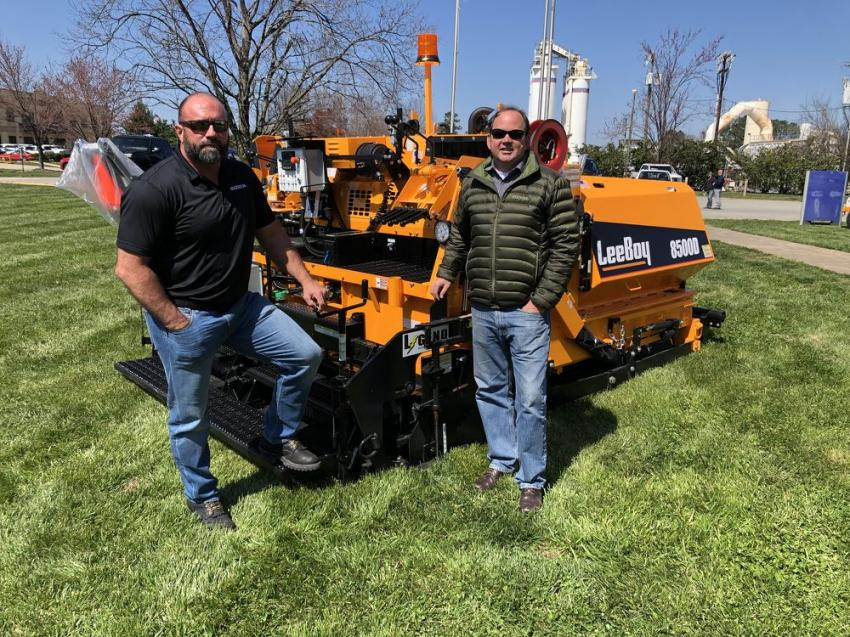 Retired Staff Sgt. Patrick Overstreet (L), who spent 10 years as an infantryman, and Chris Pierson, both of Ascendum Machinery, were on hand to help.