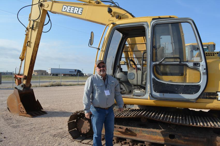 Mike Rehms of Rehms Trucking was in town from Natchez, Miss., for the big event.  He would later bid on this John Deere 120 excavator.