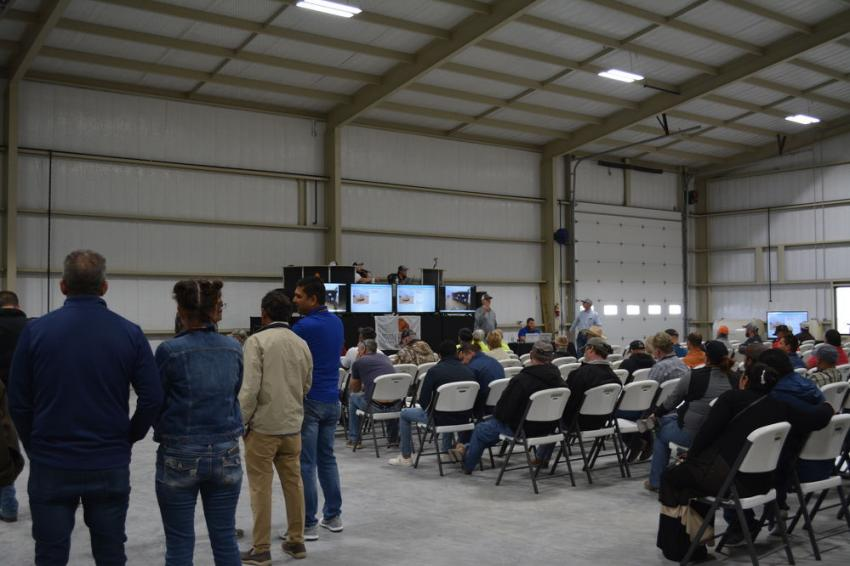 A portion of the crowd on hand for Iron Bound's auction. The company's next auction will be held at its main site in Seminole, Texas, on May 21.