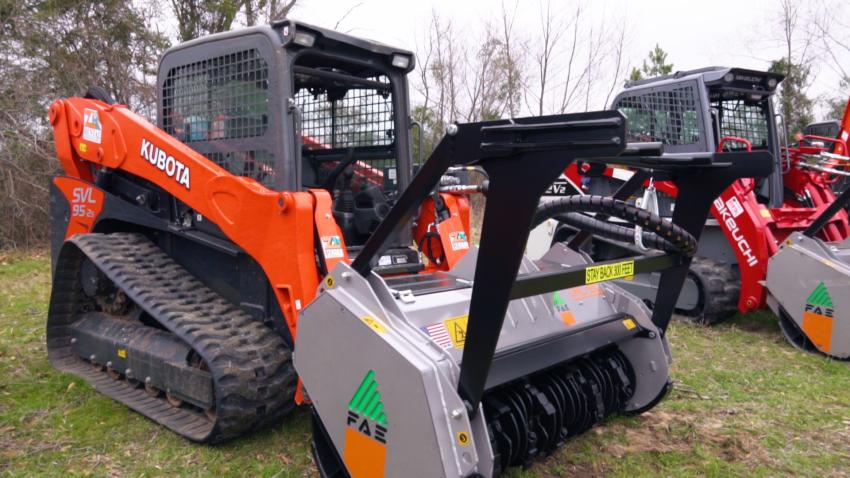 FAE brought together local dealers, machine operators and multiple loaders and excavators with mulching attachments.