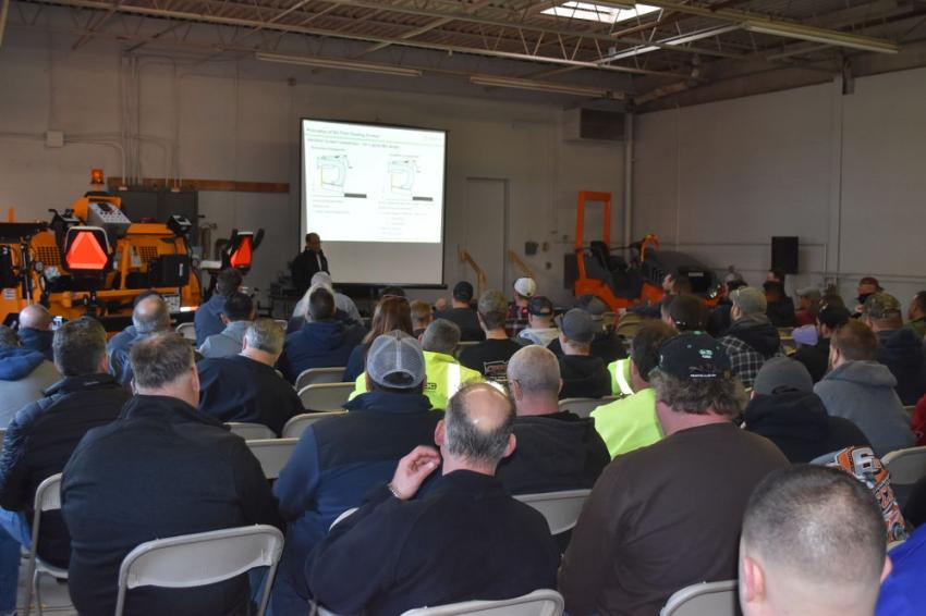 A crowd of more than 200 left standing room only as paving contractors and representatives of local municipalities gathered for W.I. Clark Company's annual seminar.