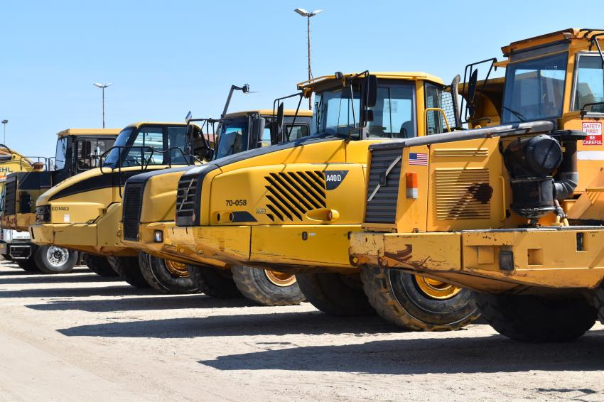 Bidders could choose from several artic trucks during the auction.