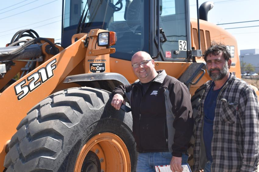 Don Purdy (L), owner of Purdy Collision, Galloway, N.J., is ready to check out the wide array of equipment offerings with his friend, Dominic Messina.