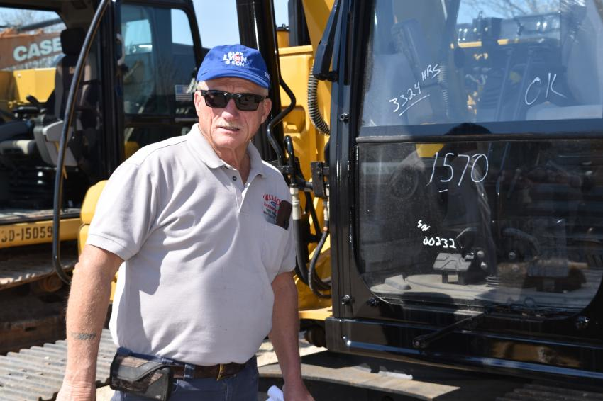 Gerald J. Wilcox, president of Wilcox Excavating Construction Company, made the trip from South Windsor, Conn., to the Alex Lyon sale in Atlantic City.