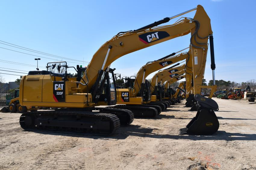 A good selection of Caterpillar excavators went on the block.