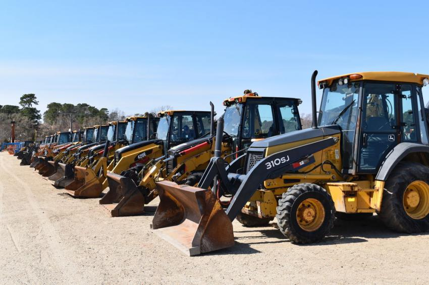 Approximately 30 backhoes went to the highest bidder during the three-day auction.