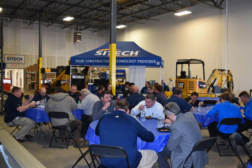 SITECH Chesapeake provided lunch for its guests with the help of Mission BBQ.