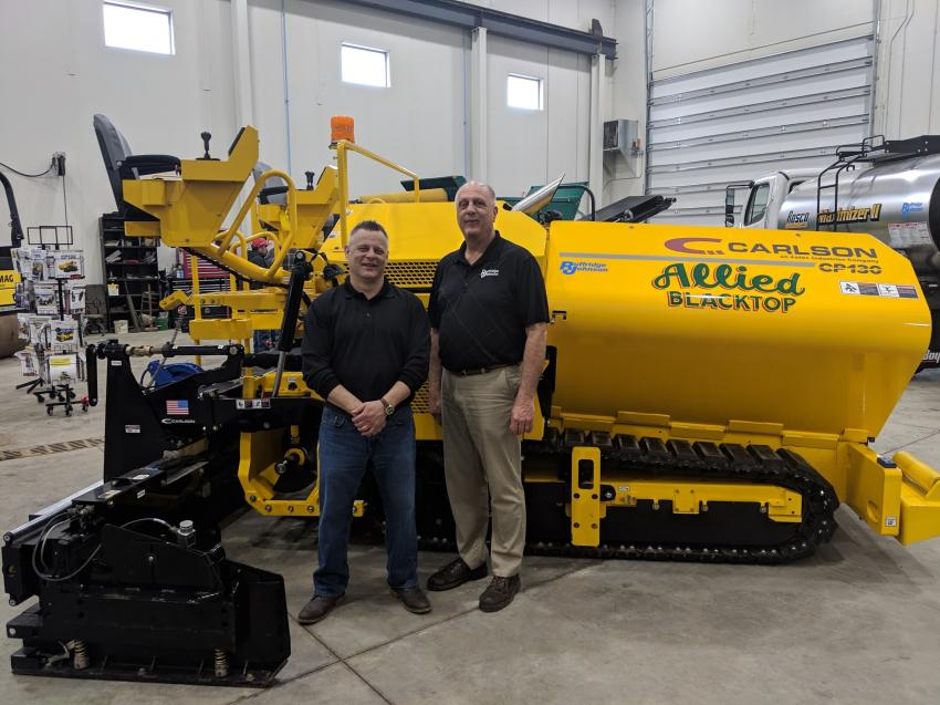Ruffridge-Johnson President Dave Hosch (L) and CEO Jon Pederson host the company's Commercial Class Paving Workshop.