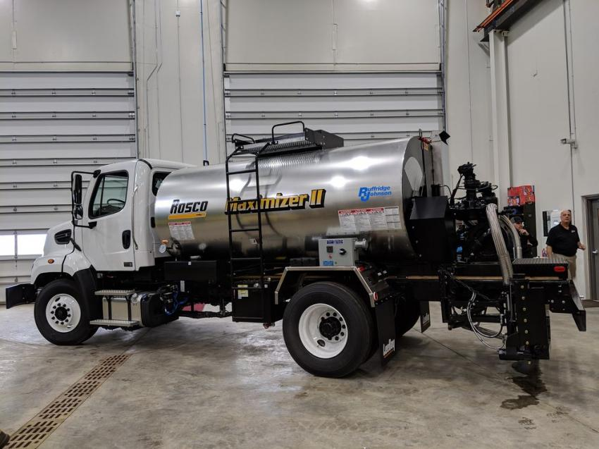 Ruffridge-Johnson's new Centerville facility provided an appropriate setting for a paving workshop.
